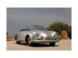 1958 Porsche Speedster 356 1600 Super Konst på metall av S. Clay