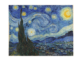 The Starry Night, June 1889 Stampa su metallo di Vincent van Gogh