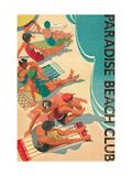 Paradise Beach Club Metal Print by Hugo Wild