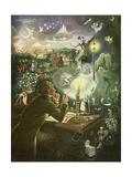 Hans Christian Andersen Reproduction sur métal par Anne Grahame Johnstone
