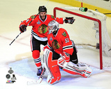 Niklas Hjalmarsson & Corey Crawford Game 5 of the 2013 NHL Stanley Cup Finals Photo