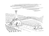 First Vegetarian church.  A pineapple instead of a cross at the steeple.  - New Yorker Cartoon Premium Giclee Print by Mick Stevens