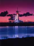 Space Shuttle Atlantis Metal Print by Lonnie Duka