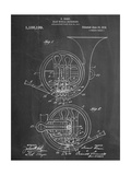 French Horn Instrument Patent Metal Print
