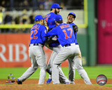 The Chicago Cubs celebrate winning the 2015 National League Wild Card Game Photo