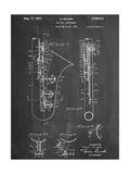 Saxophone Patent Metal Print
