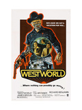 Westworld, Yul Brynner, James Brolin, Richard Benjamin, 1973 Metal Print