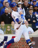 Javier Baez hits a three-run Home Run Game 4 of the 2015 National League Division Series Photo