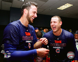 Kris Bryant & Anthony Rizzo celebrate winning the 2015 National League Wild Card Game Photo