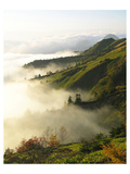 Foggy Japanese Valley in Fall Prints