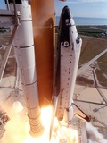 Space Shuttle Columbia Lifts Off the Launch Pad Metal Print