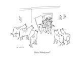 """Police! Nobody moo!"" - New Yorker Cartoon Premium Giclee Print by Michael Maslin"