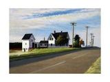 Route 6, Eastham Reproduction sur métal par Edward Hopper