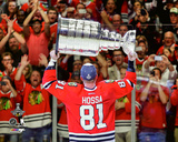 Marian Hossa with the Stanley Cup Championship Trophy Game 6 of the 2015 NHL Stanley Cup Finals Photo