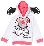 Toddler: Snoopy Fleece Zip Hoodie Sudadera con cremallera