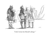 """I don't mind, but Harald's allergic."" - New Yorker Cartoon Premium Giclee Print by Julia Suits"
