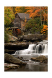 Mill and Fall Colors Posters av  Lantern Press