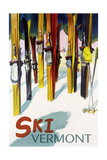 Vermont - Colorful Skis Print by  Lantern Press