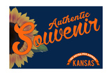 Visited Kansas - Authentic Souvenir Posters by  Lantern Press