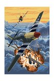 P-51 Mustang Mission with Bomber (Image Only) Art by  Lantern Press
