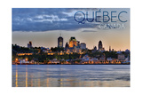 Quebec, Canada - Skyline at Sunset Posters by  Lantern Press