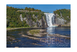 Quebec, Canada - Montmorency Falls Prints by  Lantern Press