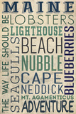 Nubble - Maine Posters by  Lantern Press