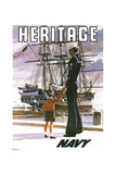 US Navy Vintage Poster - Heritage Prints by  Lantern Press