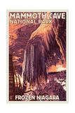 Mammoth Cave, Kentucky - Letterpress Prints by  Lantern Press