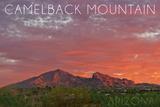 Camelback Mountain, Arizona - Sunset Prints by  Lantern Press