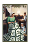 Amish Country - Quilting Scene Prints by  Lantern Press