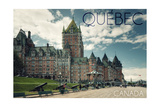 Quebec, Canada - Chateau Frontenac Cannons Print by  Lantern Press