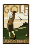 Golf - Sunday Driver Posters by  Lantern Press