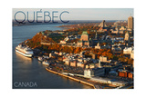 Quebec, Canada - Aerial Poster by  Lantern Press