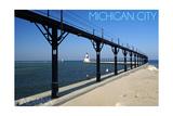 Michigan City, Indiana - Lighthouse 1 Prints by  Lantern Press