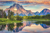 Grand Teton National Park, Wyoming - Sunrise and Snake River Posters by  Lantern Press