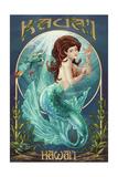 Mermaid - Kaua'i, Hawai'i Art by  Lantern Press