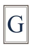 Monogram - Estate - Gray and Blue - G Prints by  Lantern Press