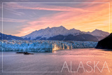 Alaska - Glacier at Sunrise Posters by  Lantern Press