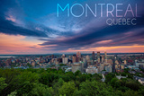 Quebec, Canada - Montreal Skyline at Night Prints by  Lantern Press