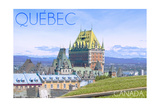 Quebec, Canada - Chateau Frontenac Prints by  Lantern Press