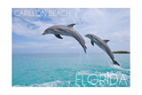 Carillon Beach, Florida - Jumping Dolphins Prints by  Lantern Press