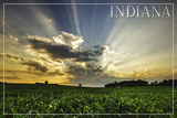 Indiana - Farm and Sunrise Posters by  Lantern Press