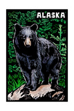 Alaska - Black Bear - Scratchboard Posters by  Lantern Press