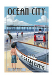 Ocean City, Maryland - Lifeguard Stand Prints by  Lantern Press