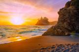 Beach at Sunset Prints by  Lantern Press
