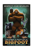 The Pacific Northwest - Respect Our Wildlife - Bigfoot Prints by  Lantern Press