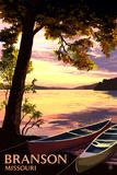 Branson, Missouri - Sunset Scene Prints by  Lantern Press