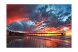 Pier and Sunset Art by  Lantern Press
