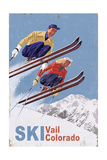 Vail, Colorado - Vintage Skiers Prints by  Lantern Press